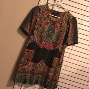 Paisley fabric tunic